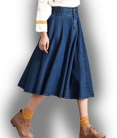 Tanming Women Denim Skirt